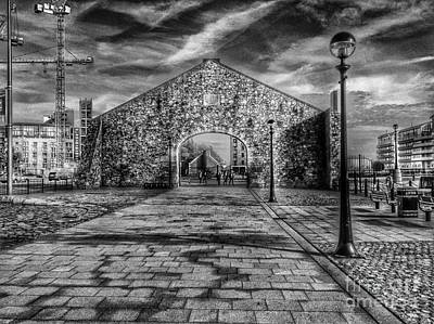 Photograph - The Salthouse Gateway In Greyscale 2 by Joan-Violet Stretch