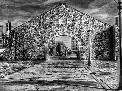 Photograph - The Salthouse Gateway In Greyscale by Joan-Violet Stretch