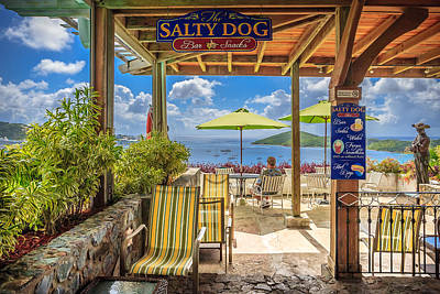 The Salty Dog Charlotte Amalie Print by Keith Allen