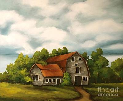 Painting - The Same Old Barn by Inese Poga