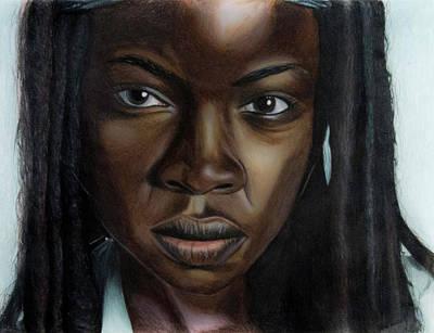 Danai Gurira Drawing - The Samurai by Melissa Conley