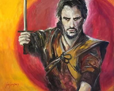 Painting - The Samurai Warrior by Jun Jamosmos