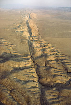 The San Andreas Fault Slashes Art Print