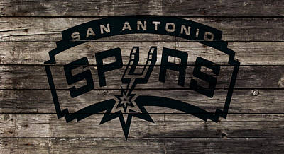 The San Antonio Spurs 1w Art Print by Brian Reaves