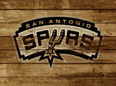 The Trees Mixed Media - The San Antonio Spurs 3c by Brian Reaves