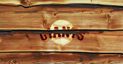 Baseball Bats Mixed Media - The San Francisco Giants 1w   by Brian Reaves