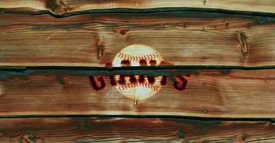 Baseball Bats Mixed Media - The San Francisco Giants 2w   by Brian Reaves