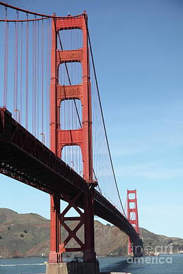 Photograph - The San Francisco Golden Gate Bridge 5d21587 by San Francisco Art and Photography