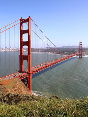 The San Francisco Golden Gate Bridge . 7d14504 Print by Wingsdomain Art and Photography