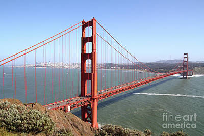 Photograph - The San Francisco Golden Gate Bridge 7d14507 by San Francisco