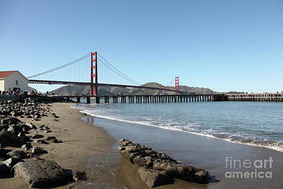 Photograph - The San Francisco Golden Gate Bridge At Crissy Field 5d21716 by San Francisco Art and Photography