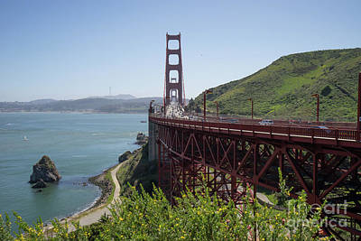 Photograph - The San Francisco Golden Gate Bridge Dsc6143 by San Francisco Art and Photography