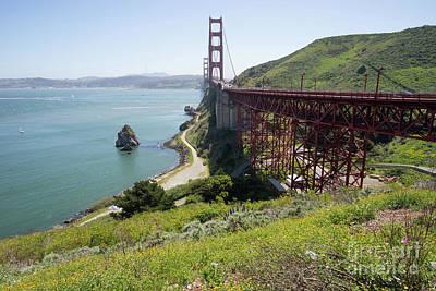 Photograph - The San Francisco Golden Gate Bridge Dsc6146 by Wingsdomain Art and Photography