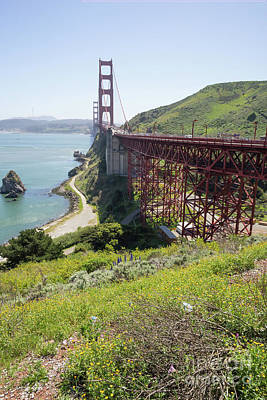 Photograph - The San Francisco Golden Gate Bridge Dsc6148 by San Francisco Art and Photography