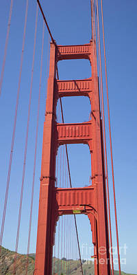 Photograph - The San Francisco Golden Gate Bridge Dsc6186 by Wingsdomain Art and Photography