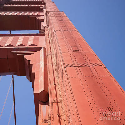 Photograph - The San Francisco Golden Gate Bridge Dsc6189sq by Wingsdomain Art and Photography