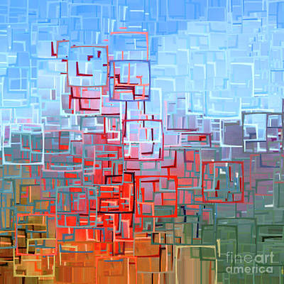 Photograph - The San Francisco Golden Gate Bridge In Abstract 7d14507 Square by Wingsdomain Art and Photography