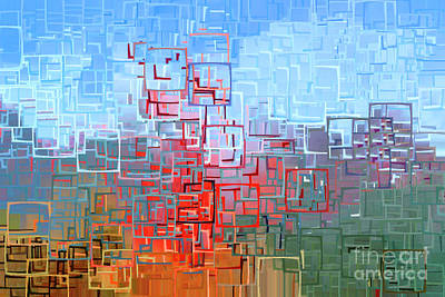 Photograph - The San Francisco Golden Gate Bridge In Abstract 7d14507 by Wingsdomain Art and Photography