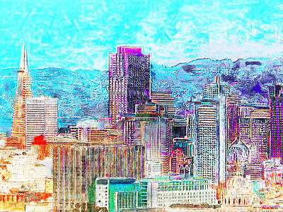 Photograph - The San Francisco Transmerica Pyramid Bank Of America Skyline 20180512 by Wingsdomain Art and Photography