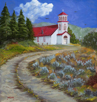 Painting - The San Iglesia Church Of Pagosa Junction by Jerry McElroy