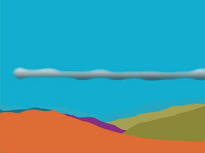 Digital Art - The San Jacintos With A Morning Glory by Stan  Magnan