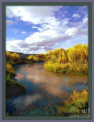 Digital Art - The San Miguel River by Annie Gibbons