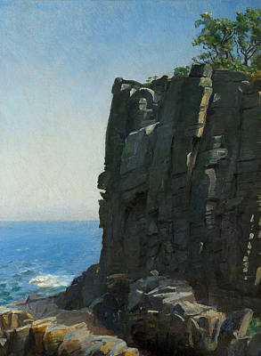 Ro Painting - The Sanctuary Cliffs At Ro by Michael Ancher