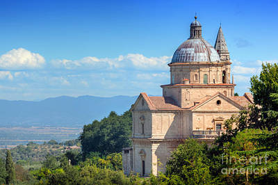 Outdoor Photograph - The Sanctuary Of San Biagio In Montepulciano, Tuscany, Italy by Michal Bednarek