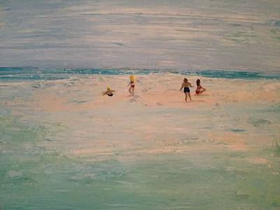 Painting - The Sandbar by MiMi Stirn