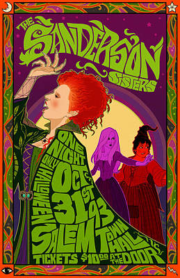 Witch Digital Art - The Sanderson Sister Live In Concert by Christopher Ables