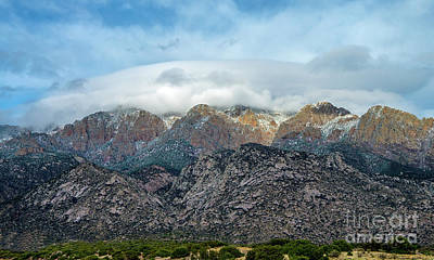 Photograph - The Sandia Mountains by Steve Whalen