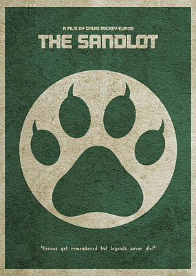 Digital Art - The Sandlot Alternative Minimalist Movie Poster by Inspirowl Design