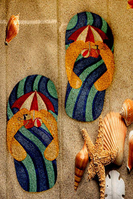 Photograph - The Sands Of Summer - Flip Flops by Marie Jamieson