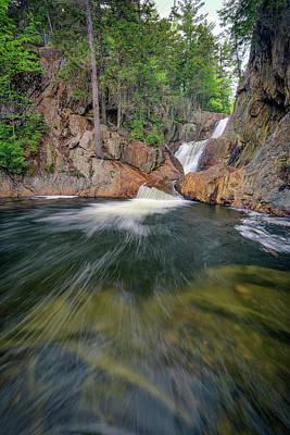 Franklin Photograph - The Sandy River At Smalls Falls by Rick Berk