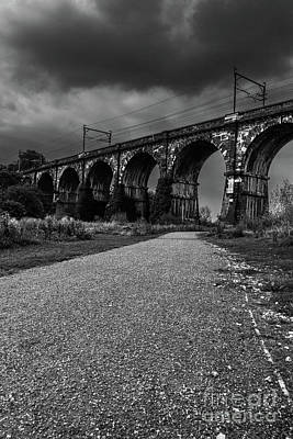 Photograph - The Sankey Viaduct In Newton Le Willows,merseyside  by Andrew White