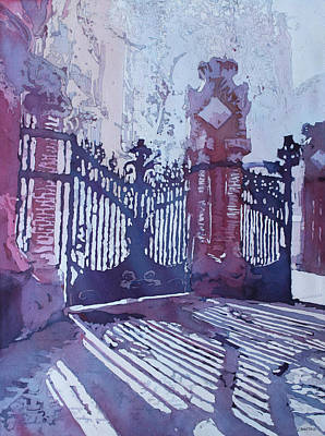 Painting - The Sant Pau Gates by Jenny Armitage