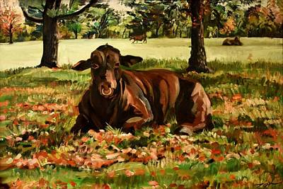 Painting - The Santa Gertrudis by Lord Toph