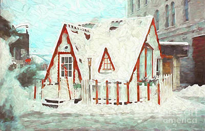 Photograph - The Santa House Of Winona Minnesota Digital Painting by Kari Yearous