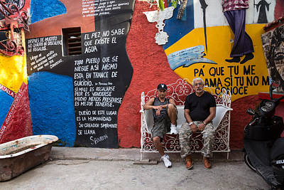 Photograph - The Santeria Artist In Havana by Peter Bates