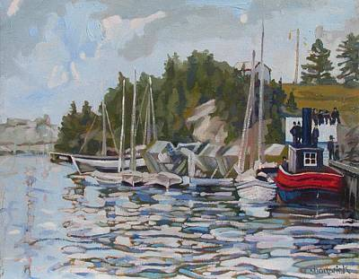 Painting - The Saugeen At Southampton by Phil Chadwick