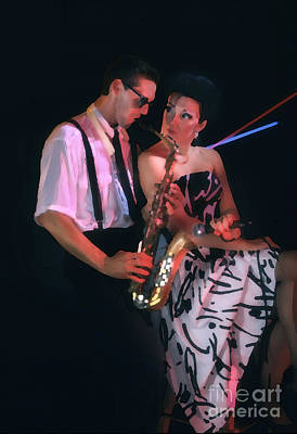 The Sax Man And The Girl Art Print by Greg Kopriva
