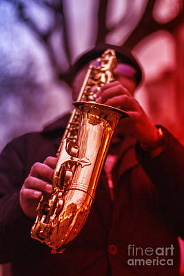 The Sax Man  Art Print by Bouquet  Of arts