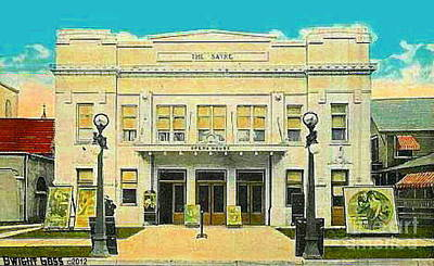 The Sayre Theatre And Opera House In Sayre Pa In 1925 Art Print