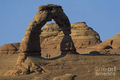 Photograph - The Scale Of Delicate Arch by Stan and Anne Foster