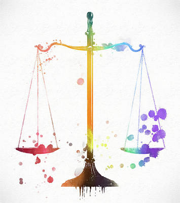 The Scale Of Justice Art Print