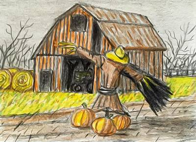 Crafts For Kids Painting - The Scarecrow by Larry E Lamb