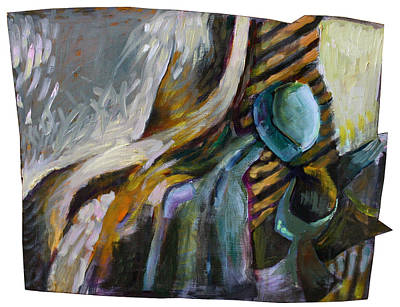 The Scarf The Glass And Caraffe Art Print by Piotr Antonow