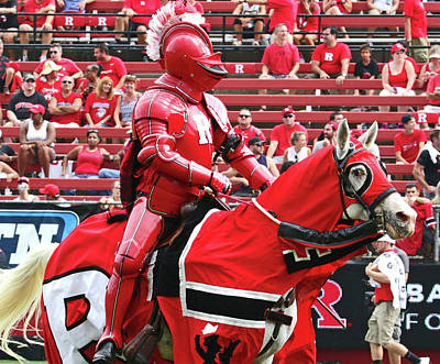 Photograph - The Scarlet Knight And His Noble Steed # 5 by Allen Beatty