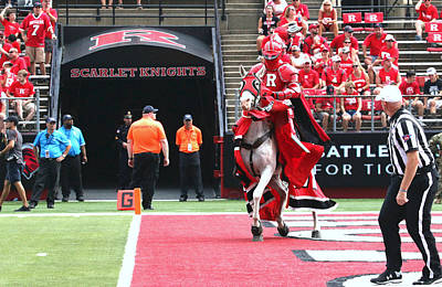 Photograph - The Scarlet Knight And His  Noble Steed # 3 by Allen Beatty