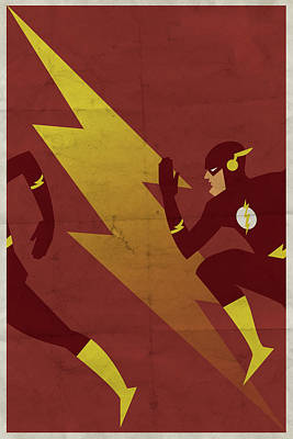 Comic Wall Art - Digital Art - The Scarlet Speedster by Michael Myers